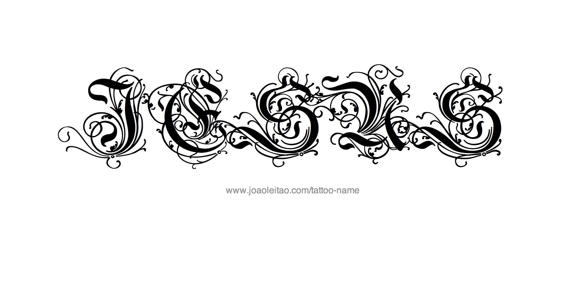 Jesus name tattoo designs for Name tattoo maker