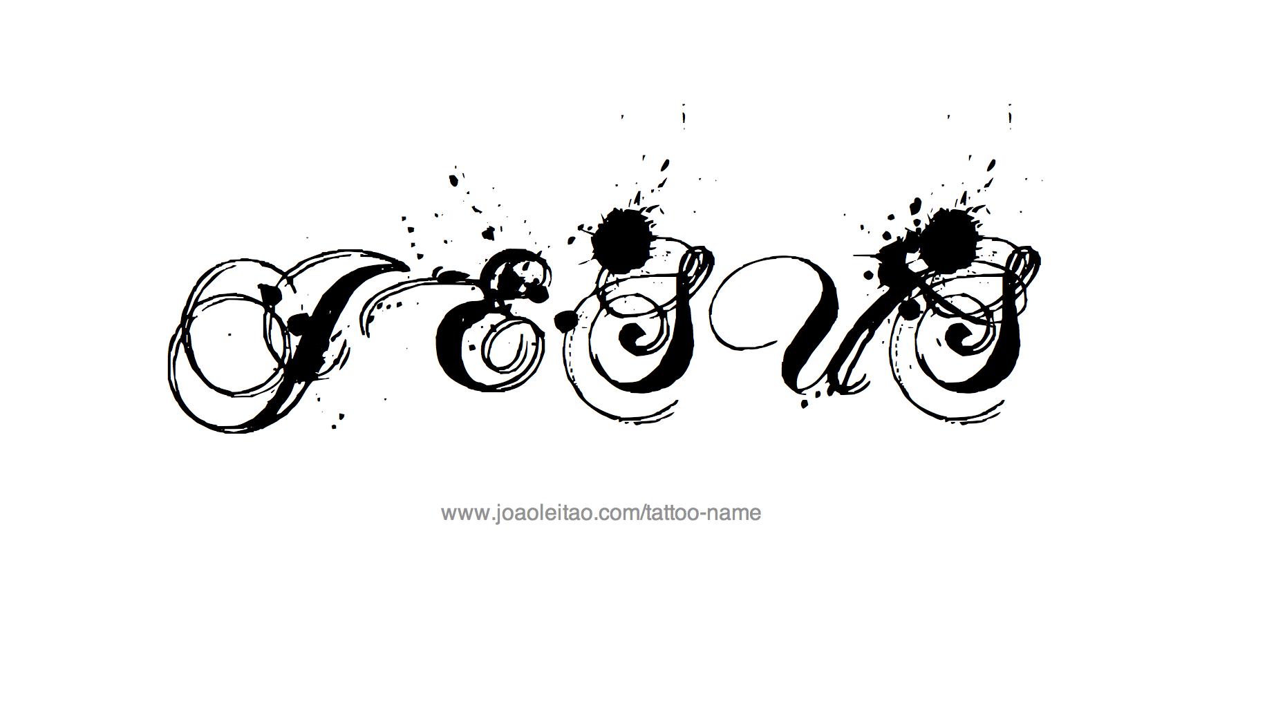 jesus name tattoo designs