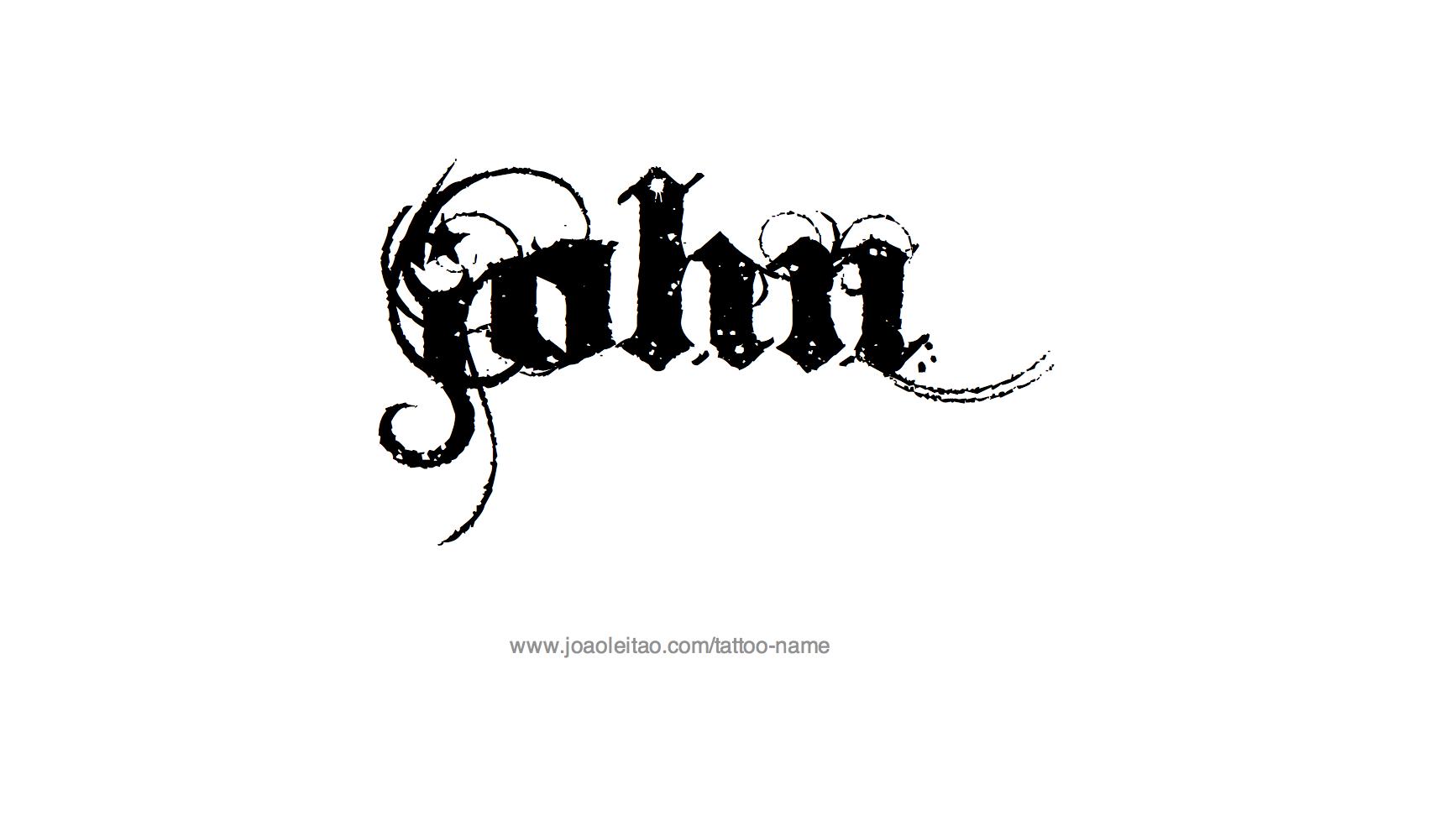 Name John Tattoo John Name Tattoo Designs