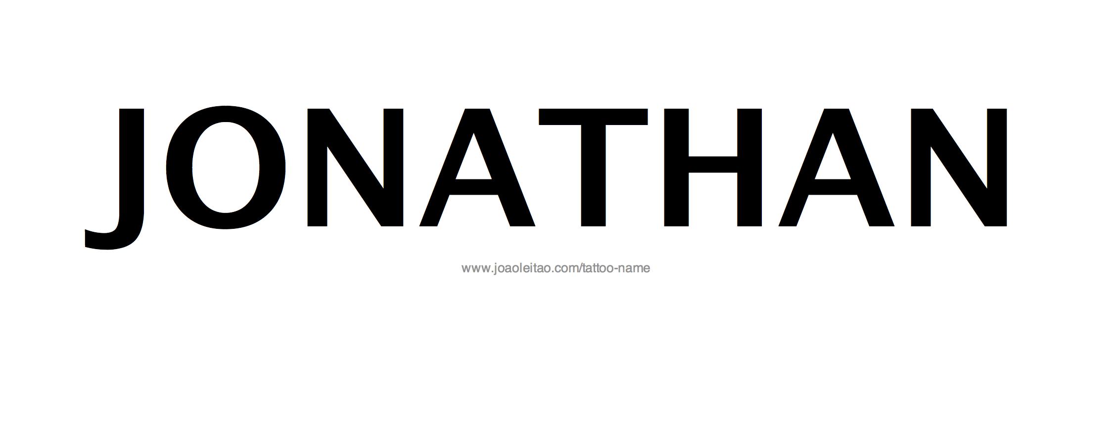 Name Jonathan Tattoo Jonathan Name