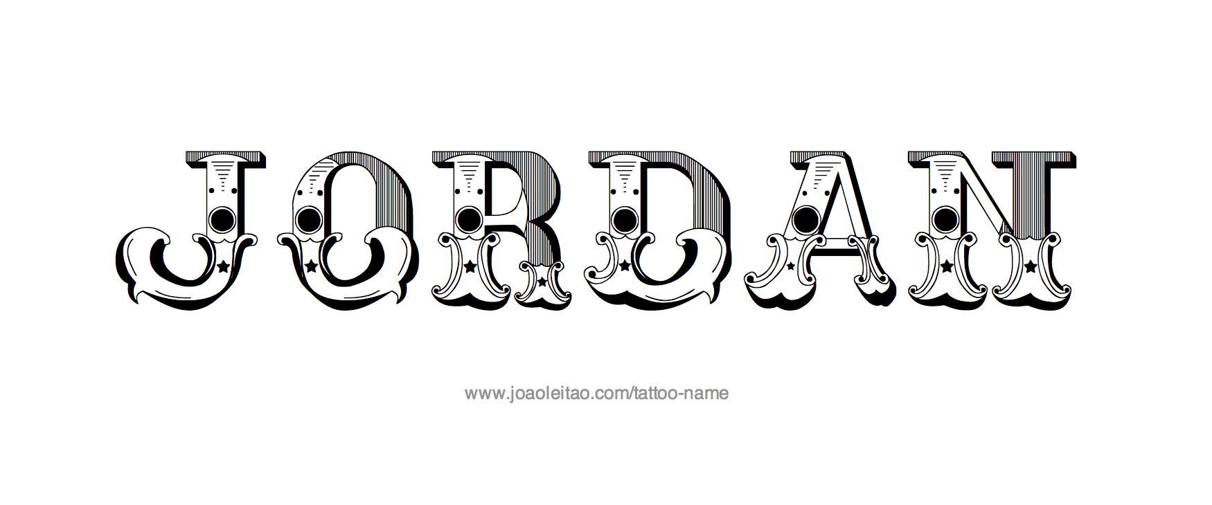 Name tattoo designs free -  Jordan Name Tattoo Designs