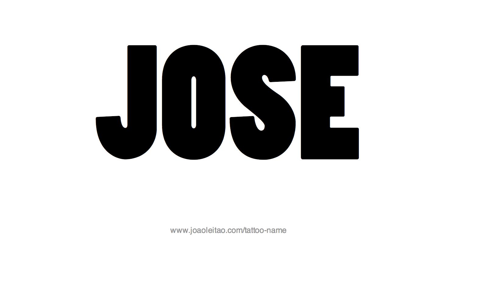 jose name tattoo designs