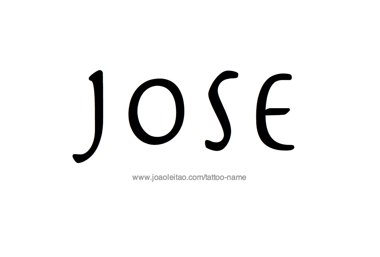 Name: Jose Name Tattoo Designs