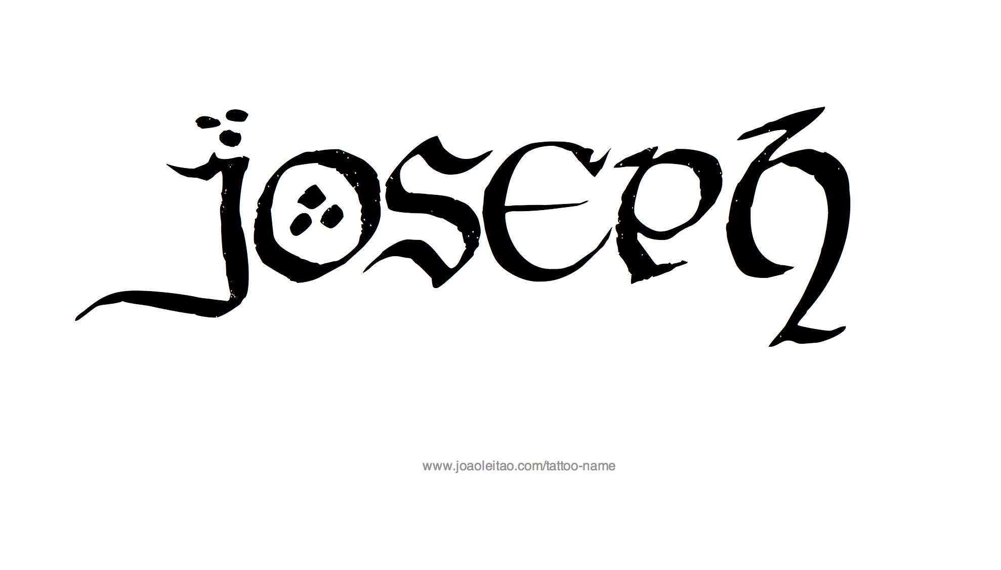 Joseph Name Tattoo Des...