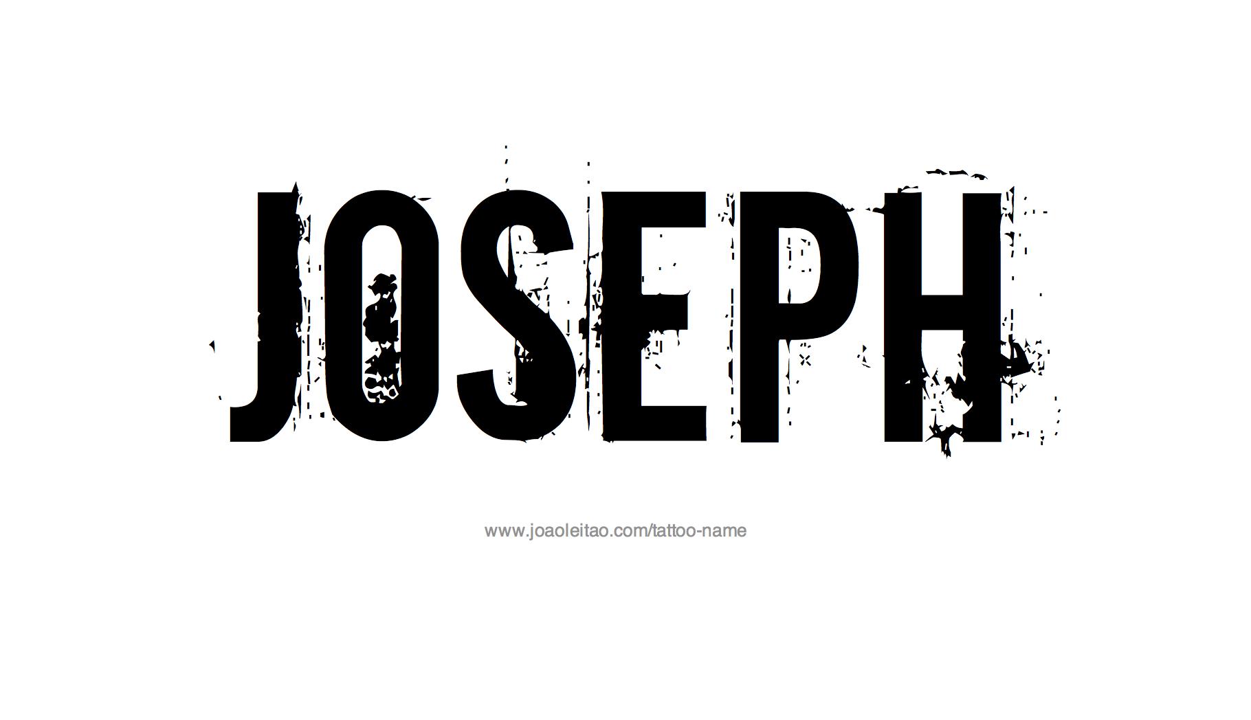 Joseph Name Tattoo Designs