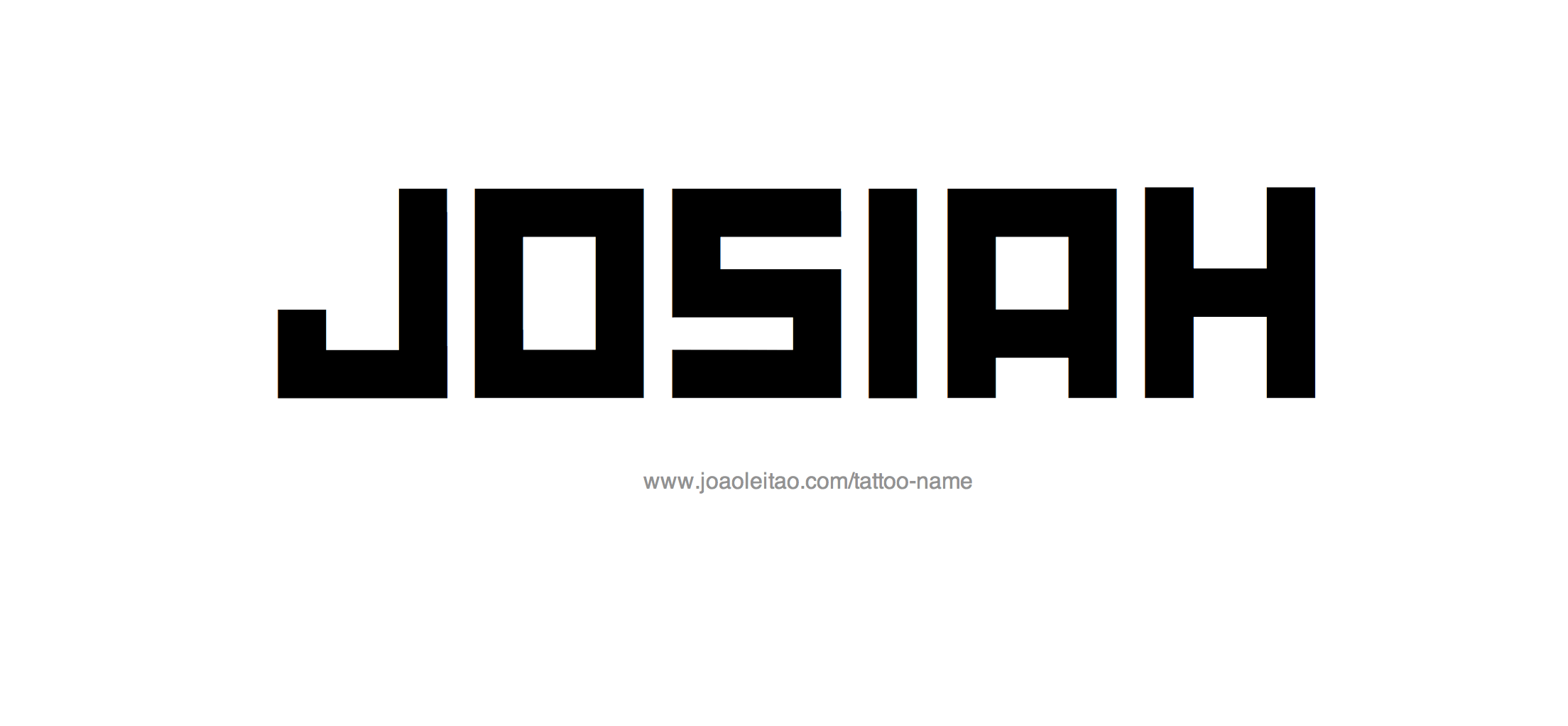 Josiah Name Tattoo Designs