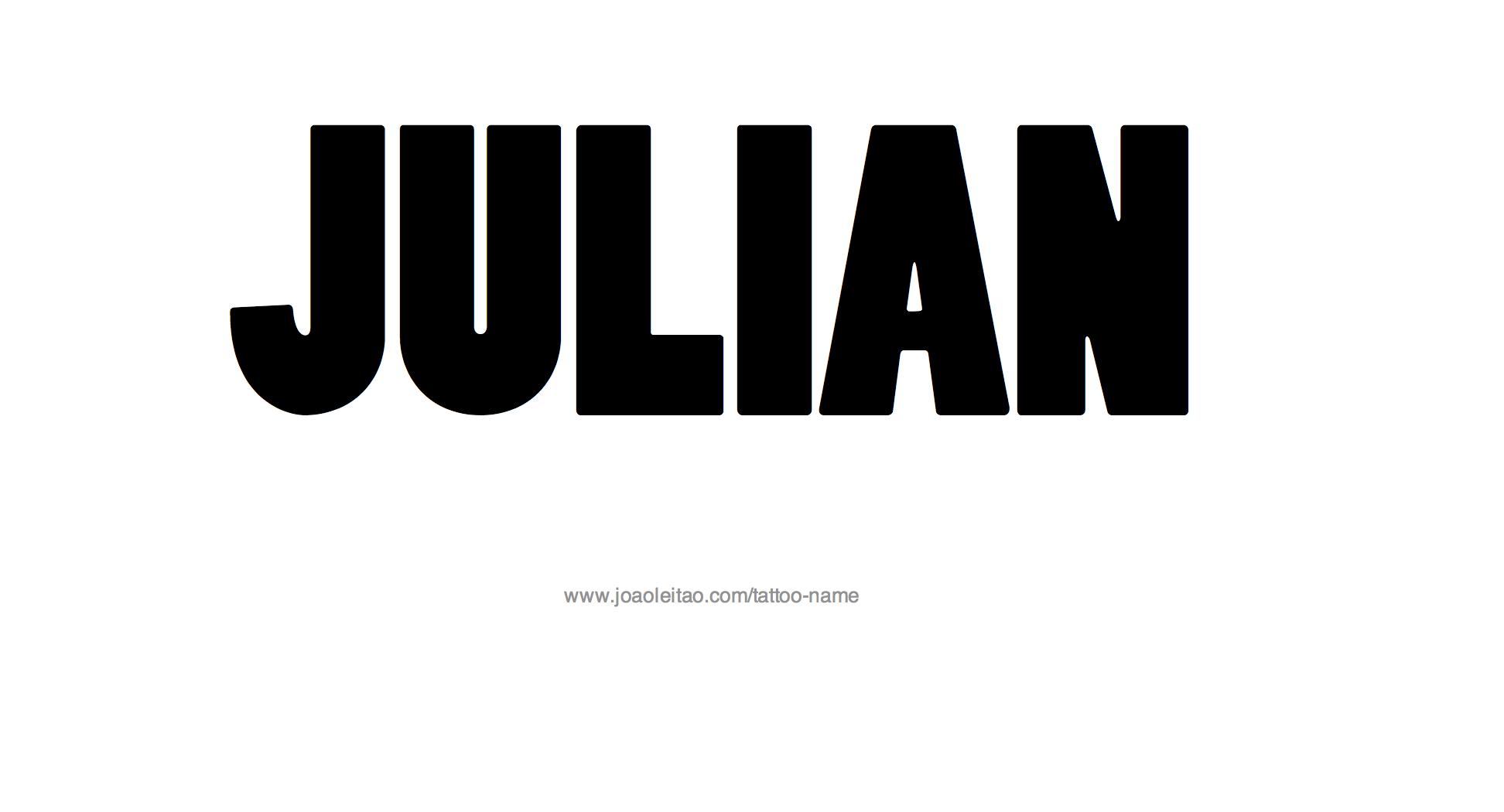 Name: Julian Name Tattoo Designs