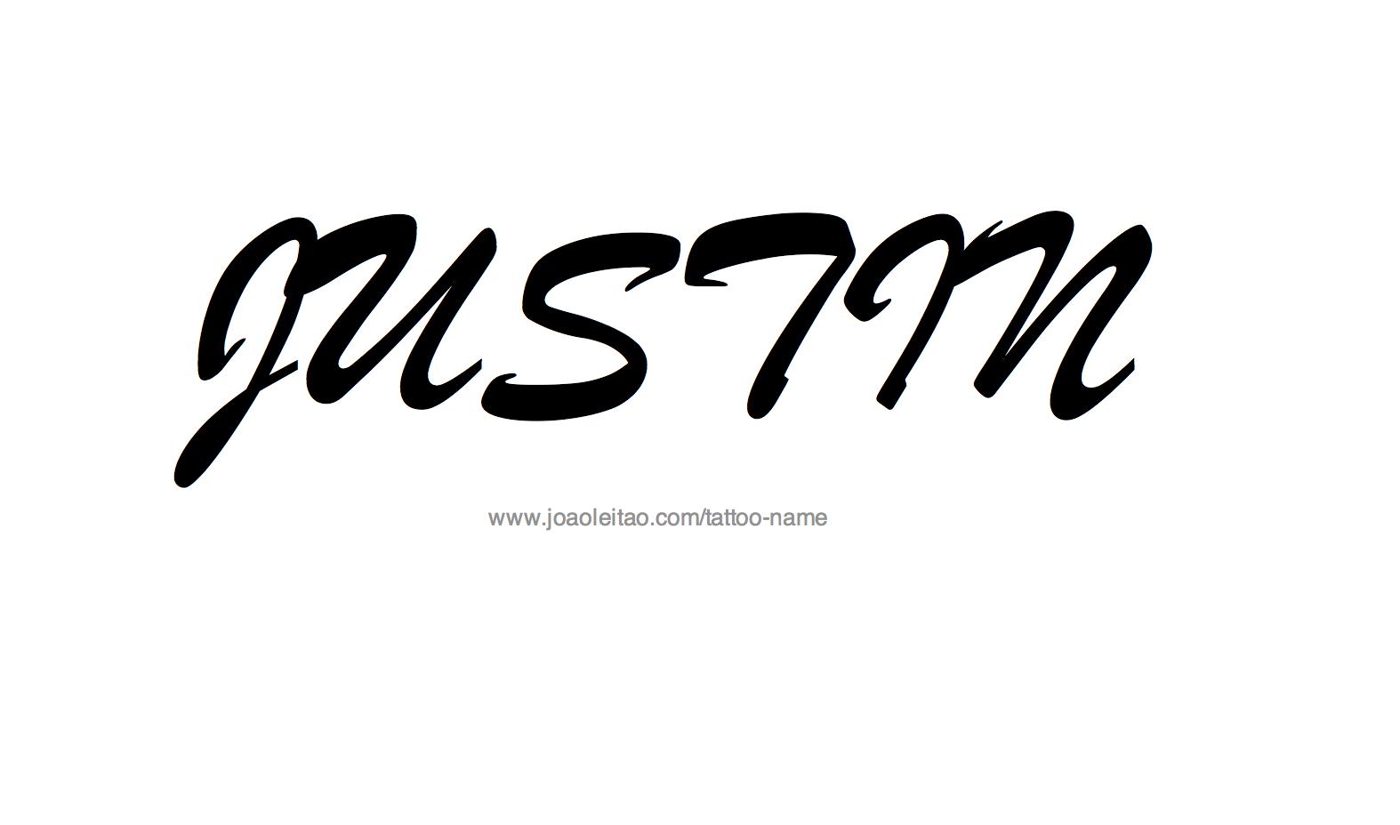 Name Justin Tattoos Tattoo Design Name Justin