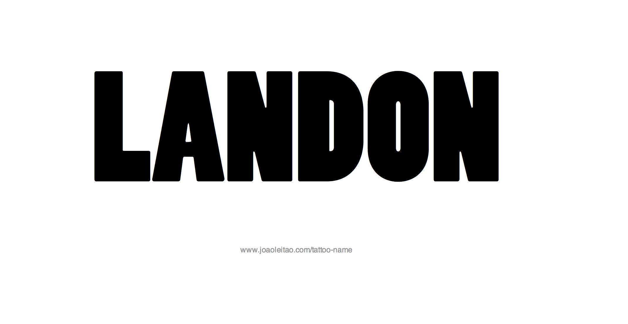 Landon Name Tattoo Designs