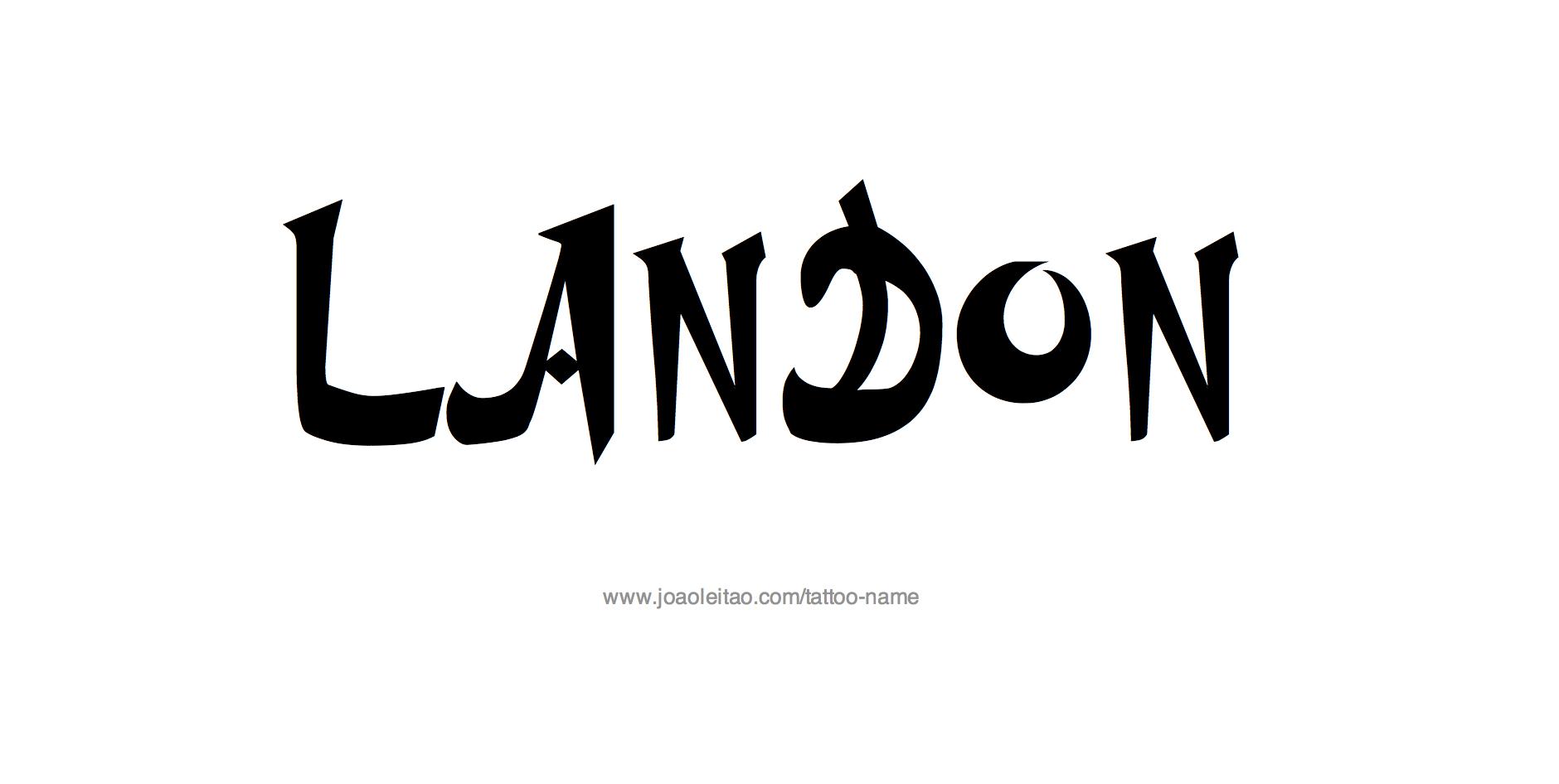 Name: Landon Name Tattoo Designs