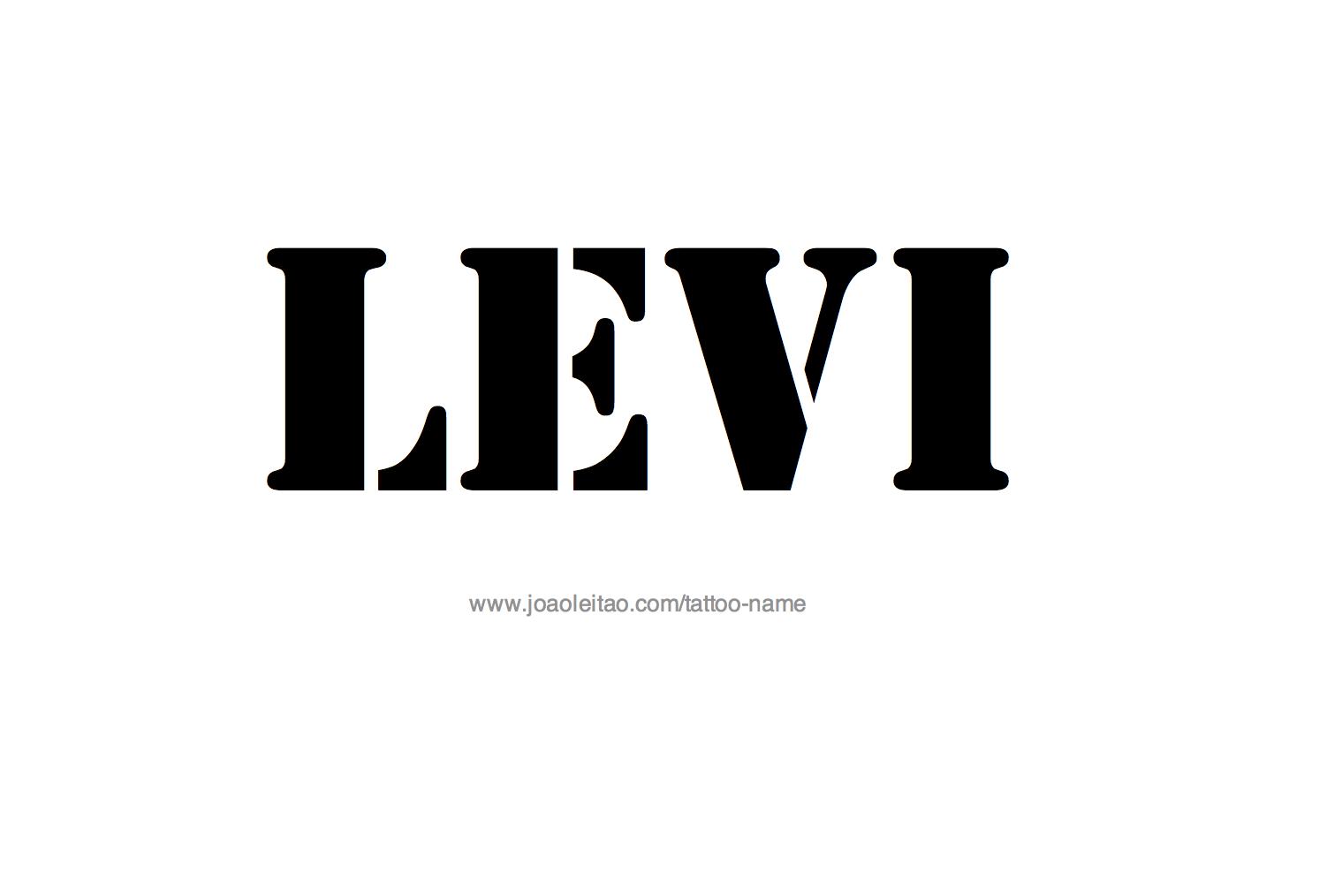 Name: Levi Name Tattoo Designs