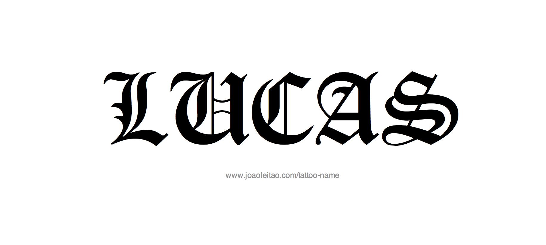 Lucas Name Tattoo Designs