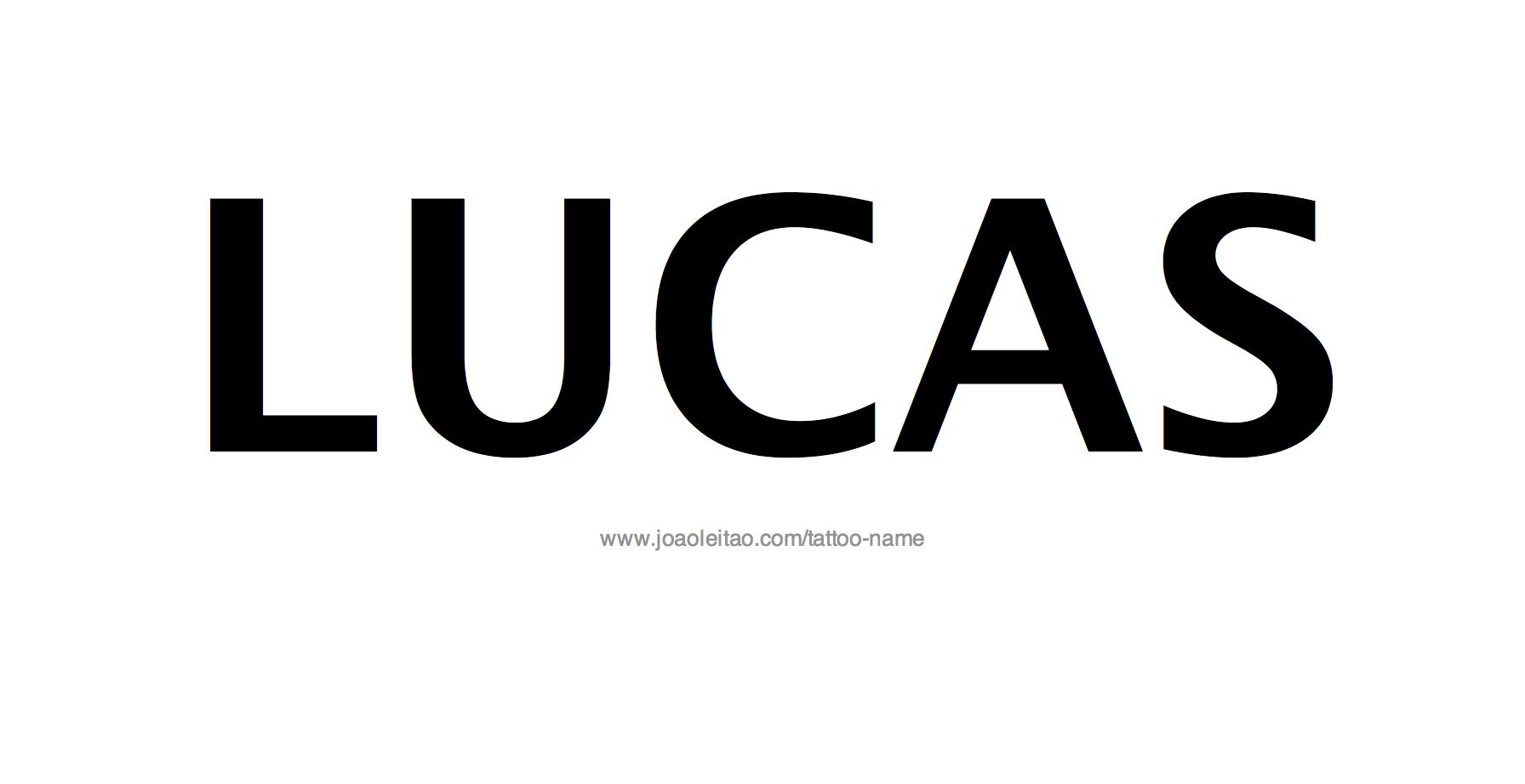 Name: Lucas Name Tattoo Designs
