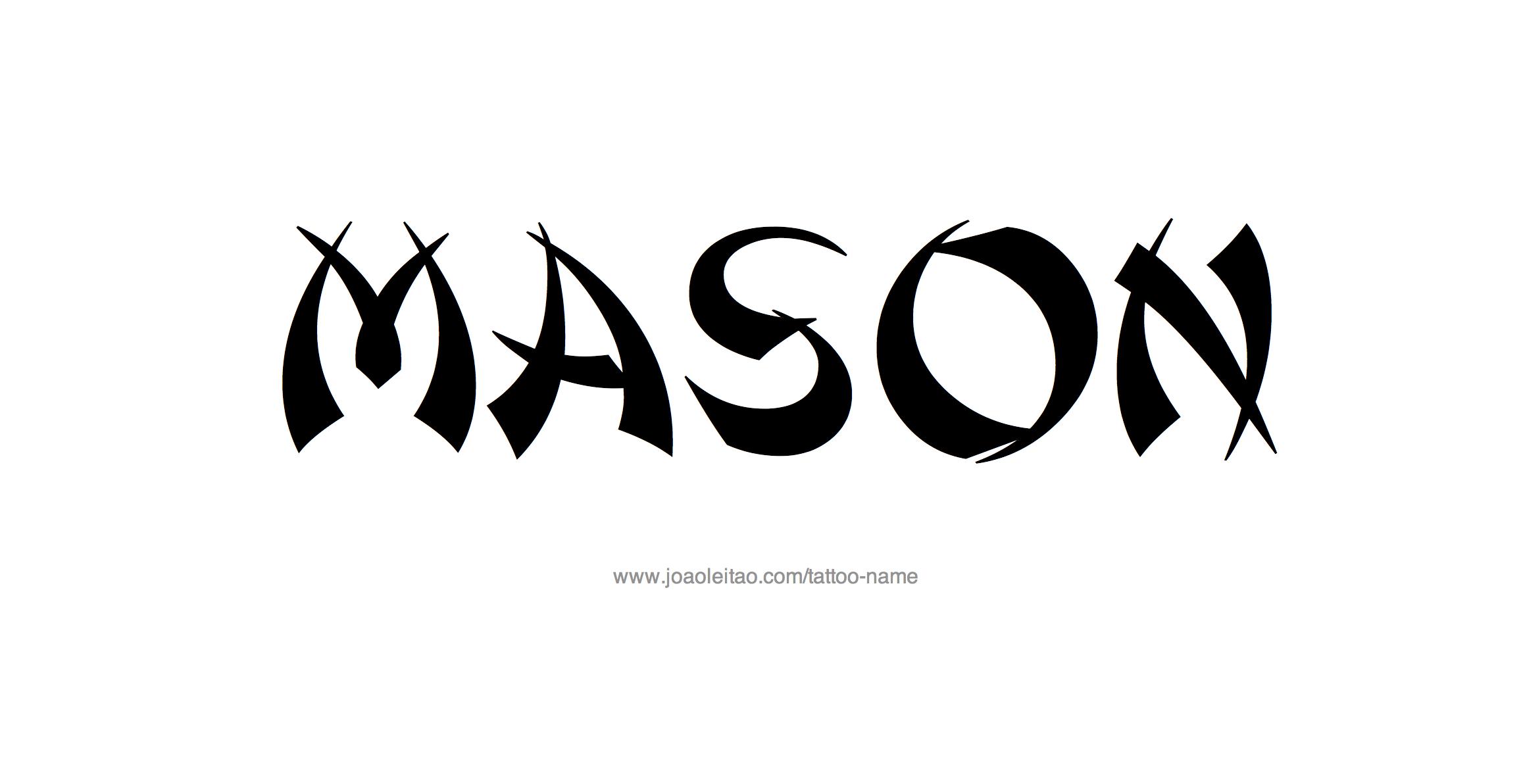 Mason Name Tattoo Designs