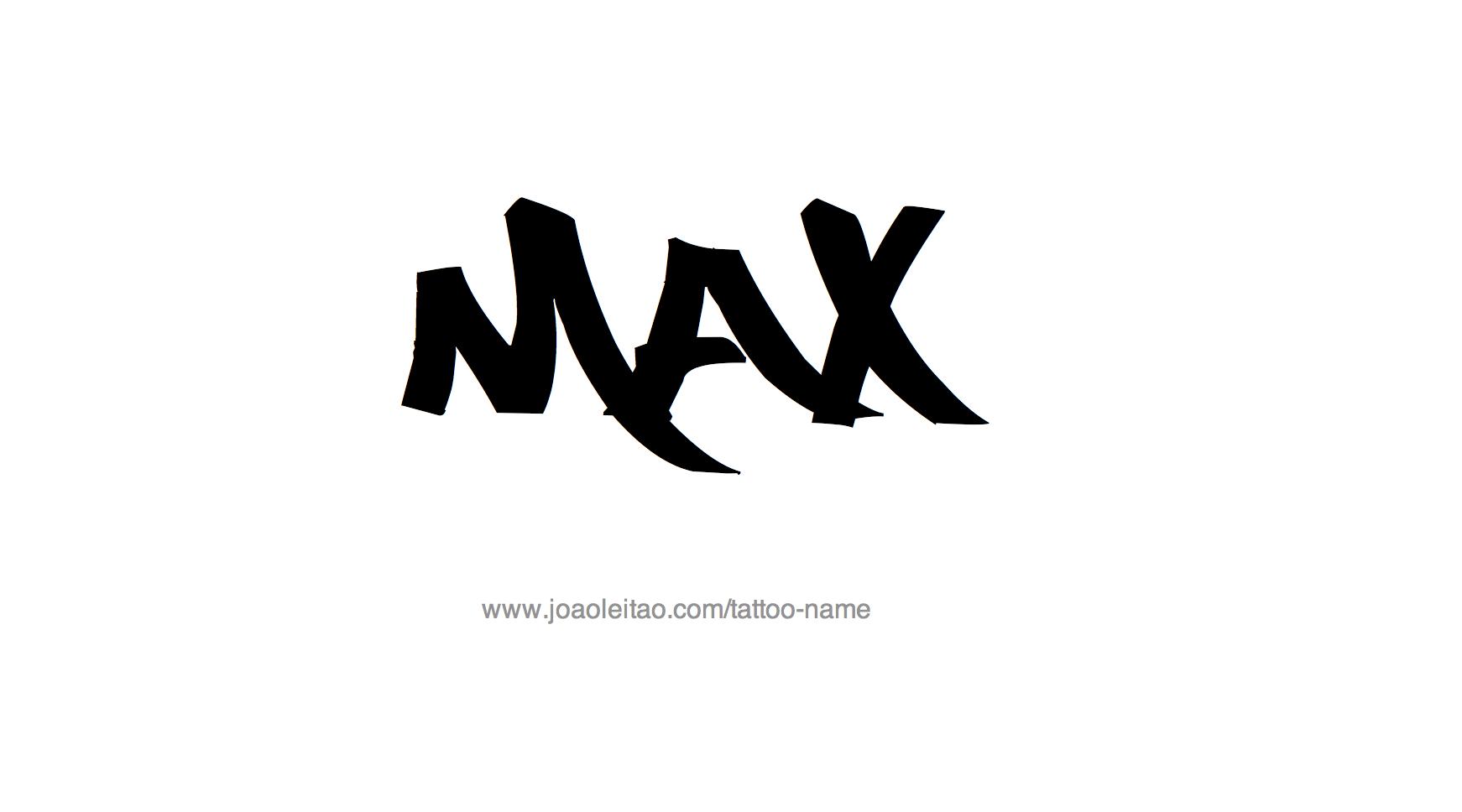 Max Name Tattoo Designs