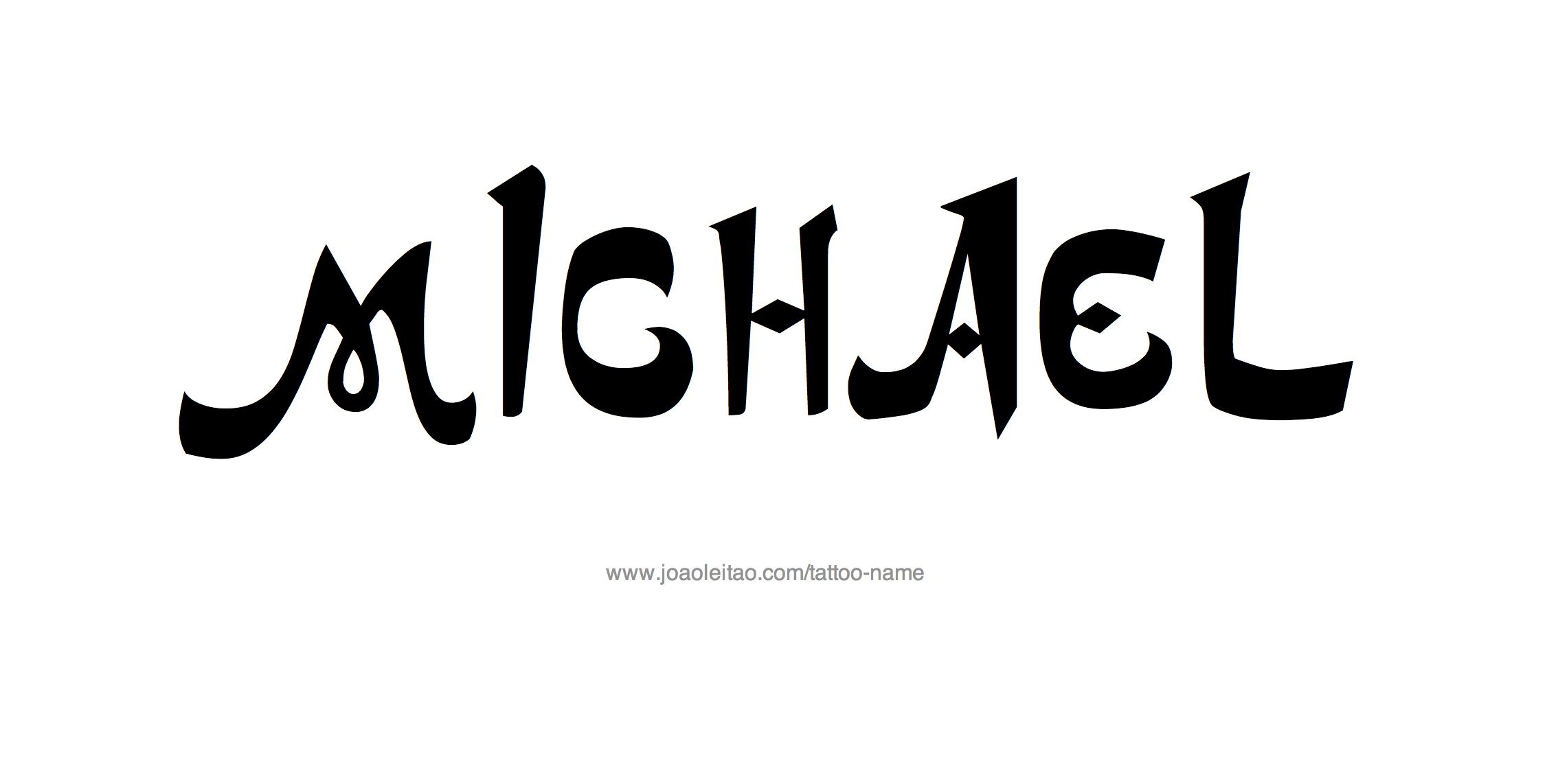 Tattoo Design Name Michael