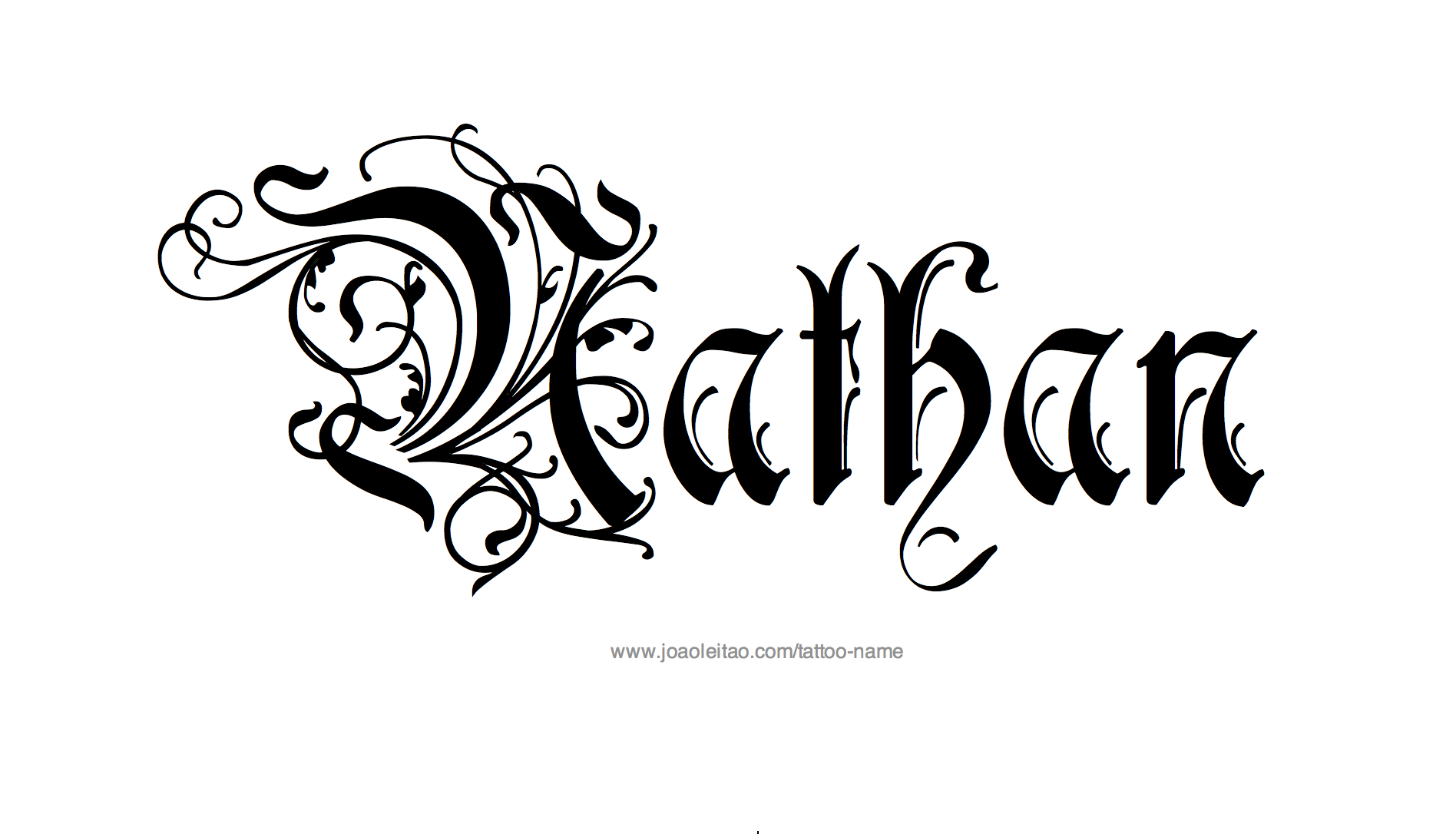 nathan name tattoo designs. Black Bedroom Furniture Sets. Home Design Ideas