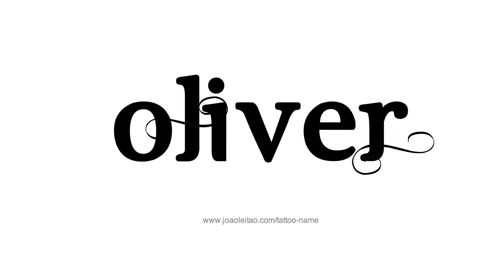 Name: Oliver Name Tattoo Designs