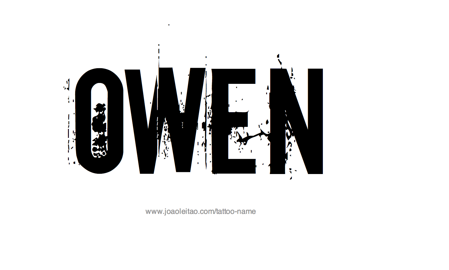 Name: Owen Name Tattoo Designs