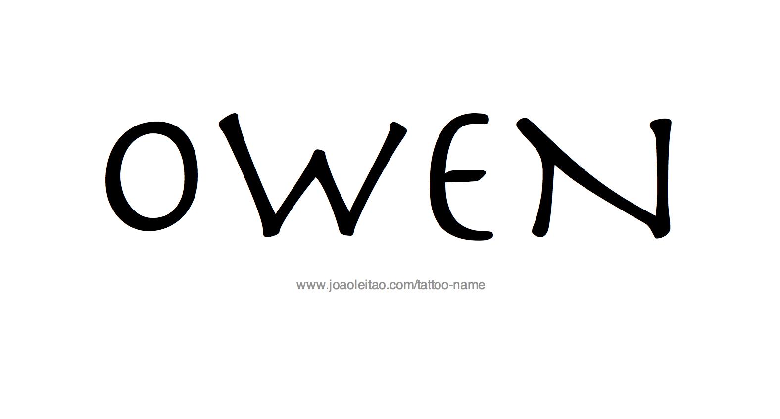 %name%: Owen Name Tattoo Designs