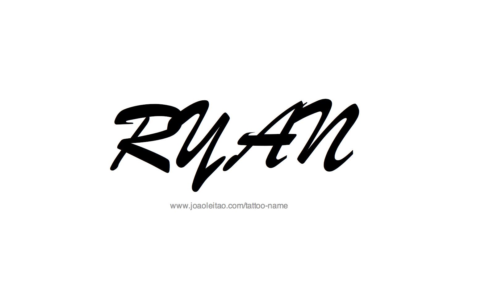 Tattoo Design Name Ryan