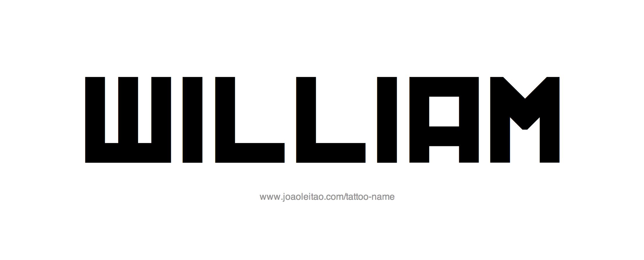 Name: William Name Tattoo Designs