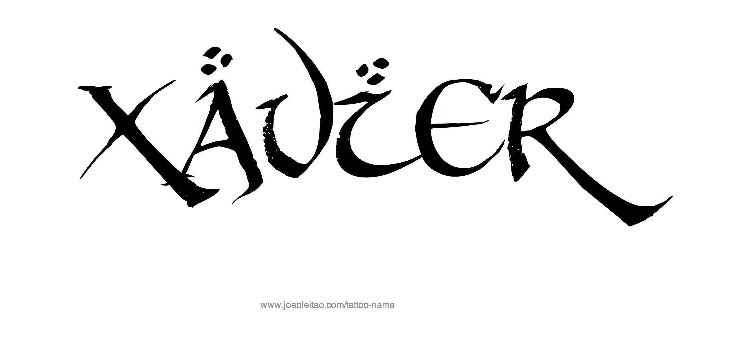 Xavier Name Tattoo Designs
