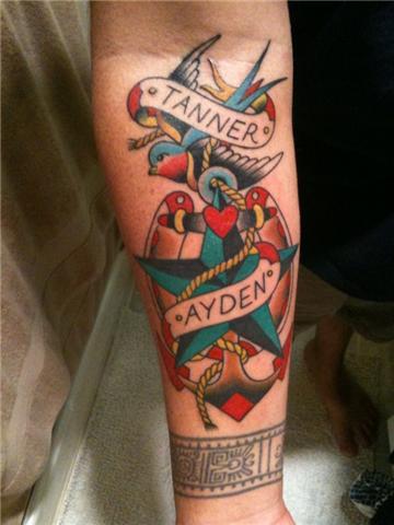 Anchor tattoo design for men