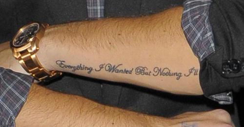 Forearm tattoo designs ideas for men script