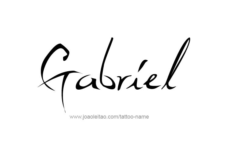 gabriel angel name tattoo designs. Black Bedroom Furniture Sets. Home Design Ideas