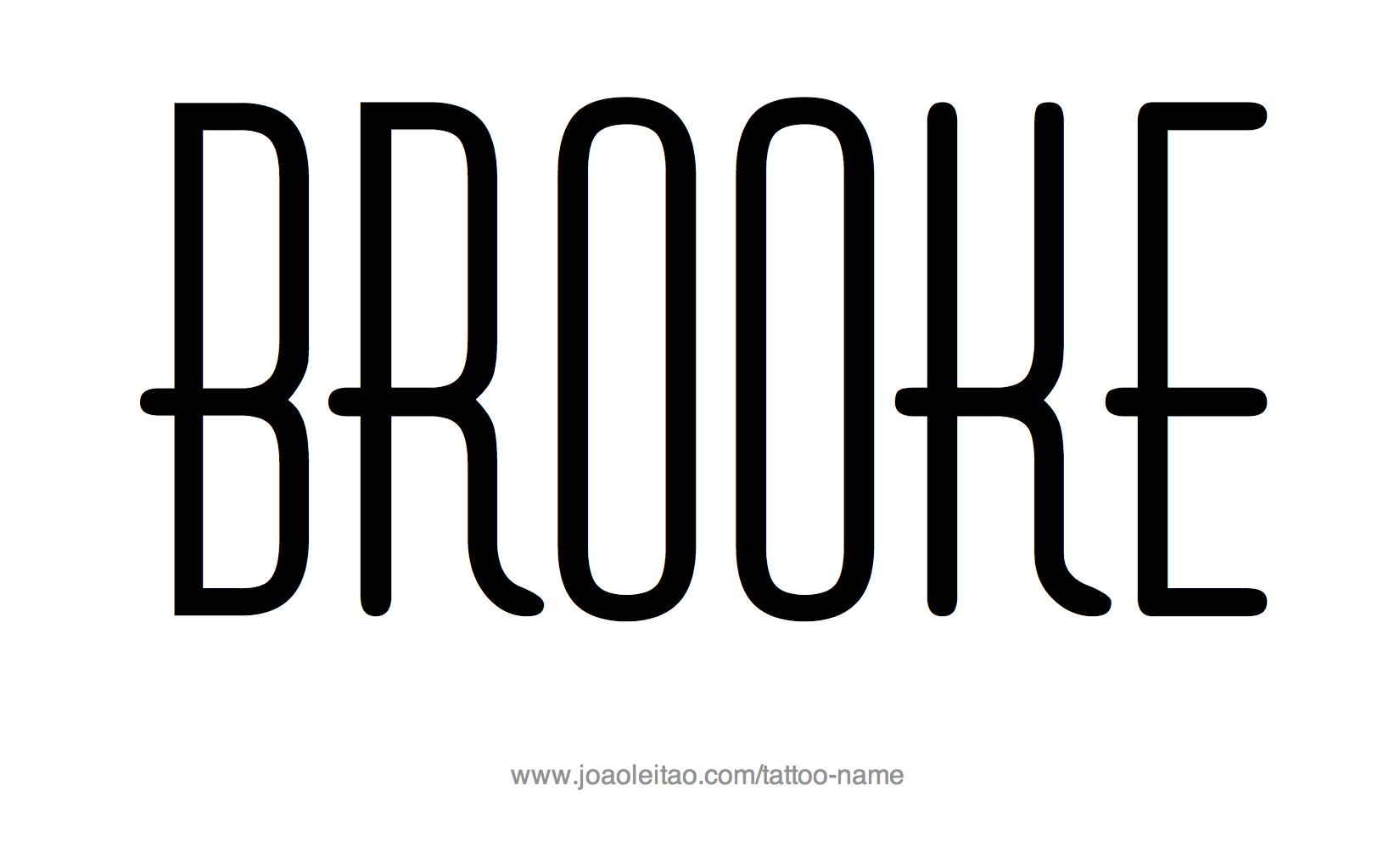 Name: Brooke Name Tattoo Designs
