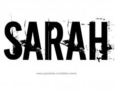 Sarah Name Tattoo Designs