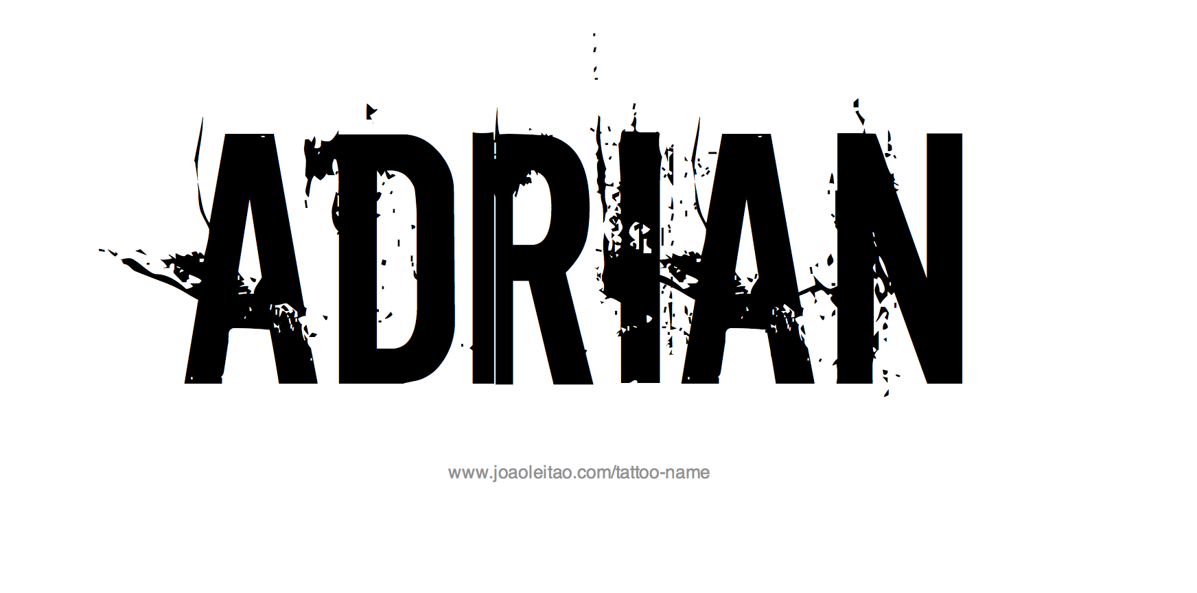 Adrian Name Tattoo Designs
