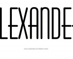 Alexander Name Tattoo Designs