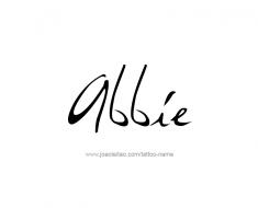 tattoo-design-name-abbie-01