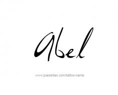tattoo-design-name-abel-01