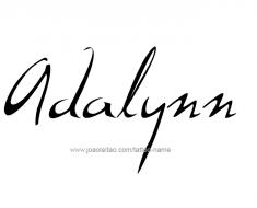 tattoo-design-name-adalynn-01