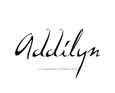 tattoo-design-name-addilyn-01