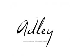 tattoo-design-name-adley-01