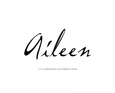 tattoo-design-name-aileen-01