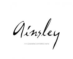 tattoo-design-name-ainsley-01