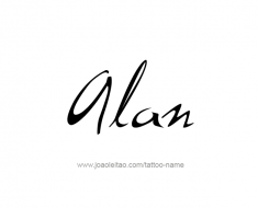 tattoo-design-name-alan-01