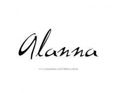 tattoo-design-name-alanna-01