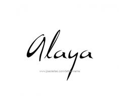 tattoo-design-name-alaya-01