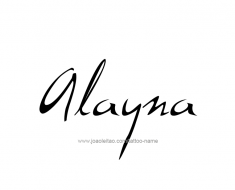 tattoo-design-name-alayna-01