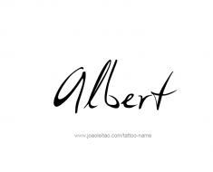 tattoo-design-name-albert-01