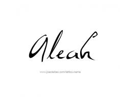 tattoo-design-name-aleah-01