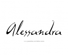 tattoo-design-name-alessandra-01