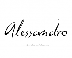 tattoo-design-name-alessandro-01