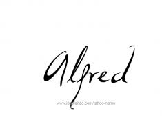 tattoo-design-name-alfred-01